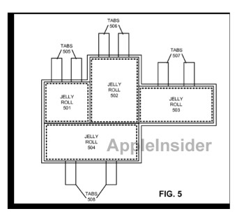 Apple's patent would increase battery life and power by putting multiple 'Jelly Rolls' in a pouch