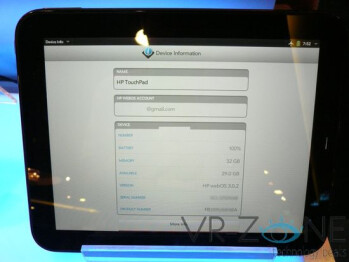 webOS 3.0.2 is found running on an HP TouchPad in Singapore
