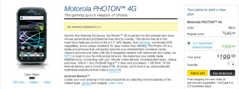 The Motorola PHOTON 4G, the manufacturer's latest high-end device, is available today at Sprint stores