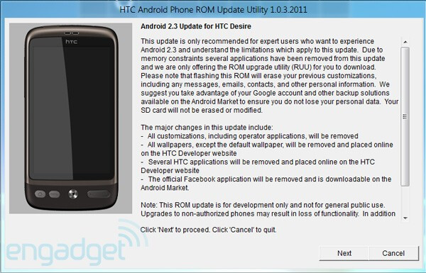 A lot of things may go wrong if you update your HTC Desire to Gingerbread - HTC Desire gets updated to Gingerbread, but not really