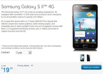 Bell is selling the Samsung Galaxy S II for an impressive $20 - 3 year contract required