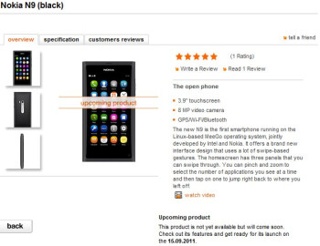 Nokia N9 release date pushed to mid-September?