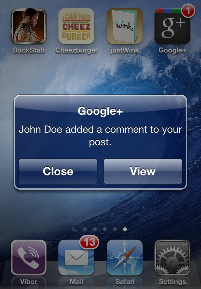 Notifications - All screenshots are from the iOS Google+ app - Google+ app review