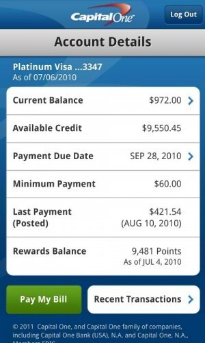 Capital One releases Android app