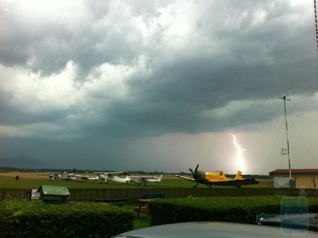 8. Rafal Plewa - Apple iPhone 4Llightnig over the airfield - Cool images, taken with your cell phone #7