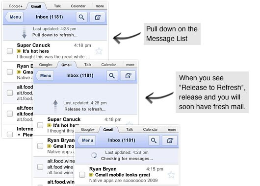 Gmail for mobile receives a slightly new makeover