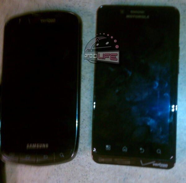 Photographs of the Motorola DROID Bionic and the Samsung DROID Charge - The Motorola DROID Bionic is pictured in all of its sexy glory