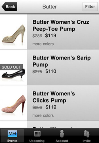 "MYHABIT for iOS app offers ""handpicked selection of designer sales"" daily at up to 60  off"