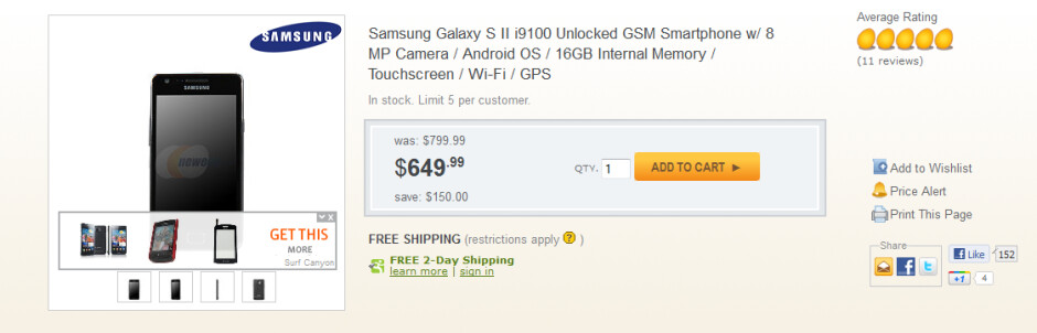 Newegg's unlocked model of the Samsung Galaxy S II will work on T-Mobile and AT&T's pipelines - Unlocked Samsung Galaxy S II now available for Stateside use on AT&T and T-Mobile