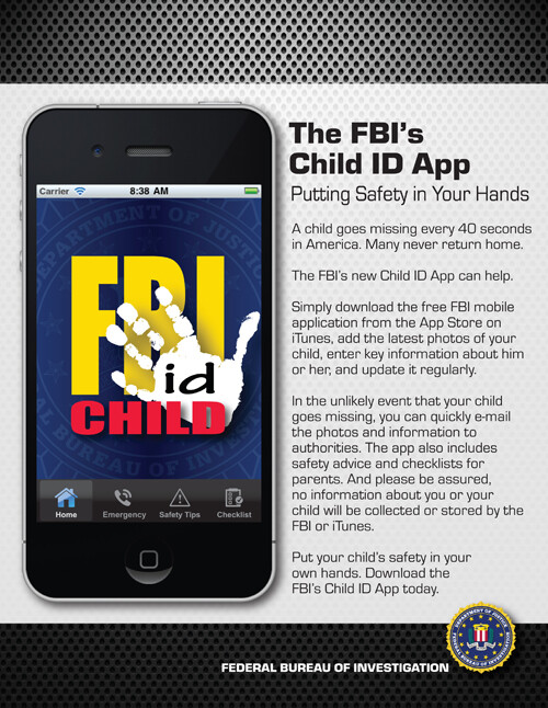 FBI's Child ID app can be very useful in the first few hours after someone has gone missing - FBI app for iOS stores child's data on your handset in case he/she goes missing