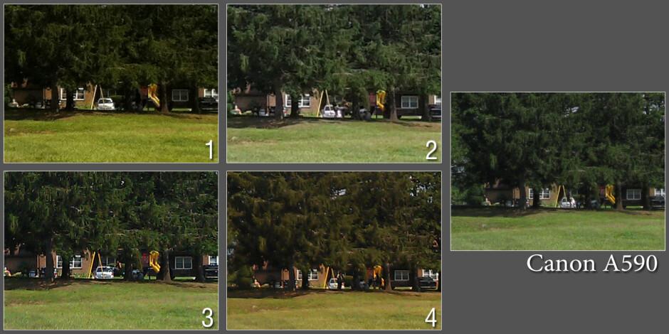 100% crops - Blind cameraphone comparison 2