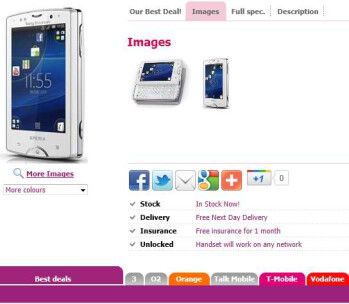 Sony Ericsson Xperia mini pro goes on sale in the UK