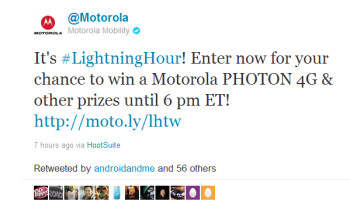 Motorola to give away 96 Motorola PHOTON 4G units in new contest