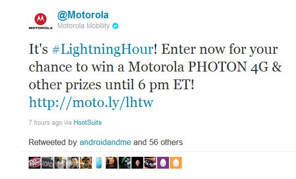 Motorola to give away 96 Motorola PHOTON 4G units in new contest