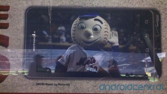 Mr. Met stars in a promotional ad for the Motorola DROID Bionic - Motorola DROID Bionic makes appearance in ads at Mets game