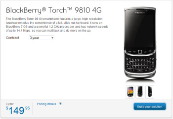 Bell Canada is offering two new BlackBerry 7 OSD phones