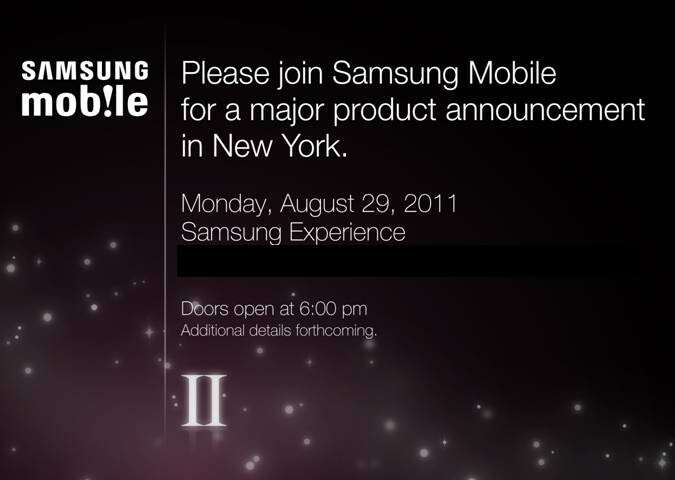 """Samsung sending invitations for a """"major product announcement"""" on August 29th, could it be the US debut of the Samsung Galaxy S II?"""