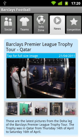 Official Barclays Football app joins the Android fray
