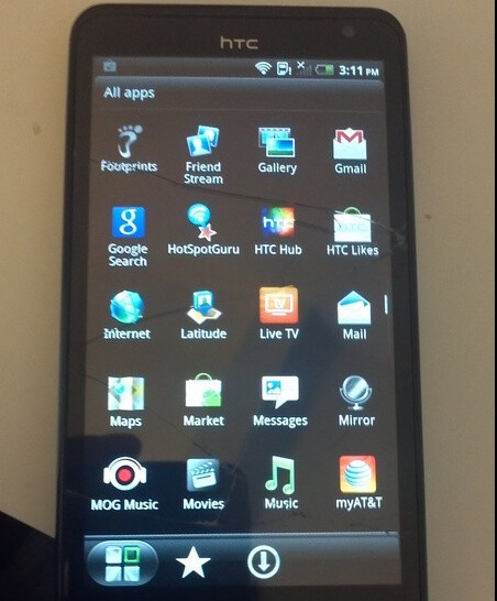 HTC Holiday purchased from Craig's List with 4 5 inch qHD display