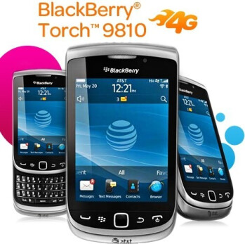 AT&T says it will offer the BlackBerry Torch 9810 for $49.99 starting on August 21st