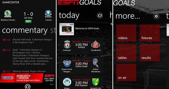 ESPN Goals hits WP7 in UK