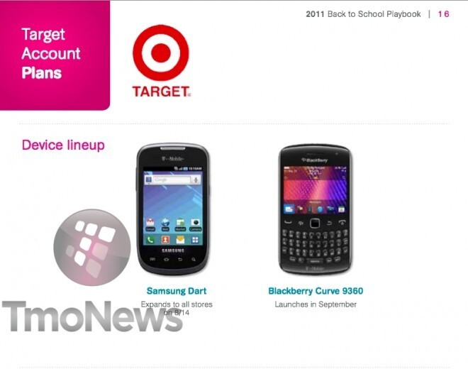 Leaks show that T-Mobile's Blackberry Curve 9360 is set to launch September 14th