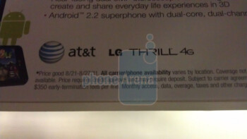 Target displays show that the LG Thrill 4G is going to be selling for $79.99 on-contract