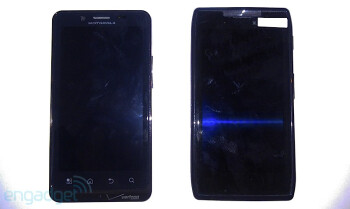 Thin Motorola DROID HD leaks sitting next to a DROID BIONIC