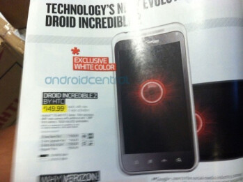 A white version of the HTC DROID Incredible 2 will be an exclusive for Best Buy