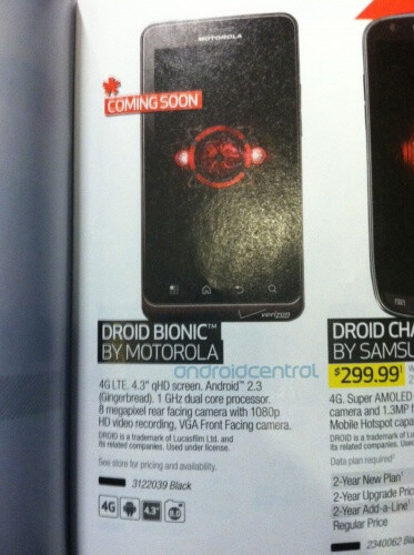 The Motorola DROID Bionic will be offered by Best Buy - Motorola DROID Bionic appears in Best Buy Buyer's Guide, still no price or launch date