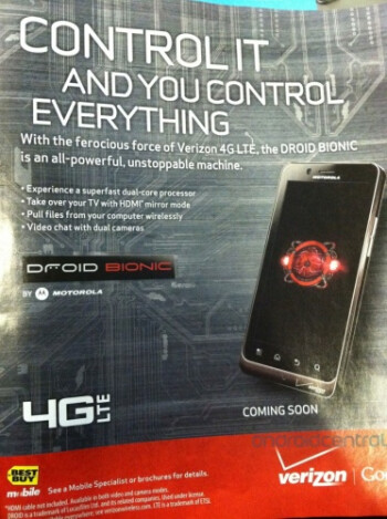 The Motorola DROID Bionic will be offered by Best Buy