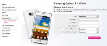 The white Samsung Galaxy S II is coming to T-Mobile U.K. next month
