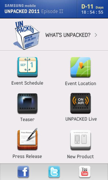 Follow the Samsung Mobile Unpacked event starting September 1st with this free app