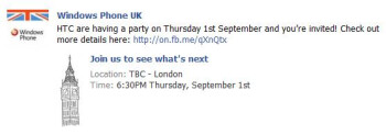New Windows Phone 7 handsets are possibly being unveiled at HTC's event as well?