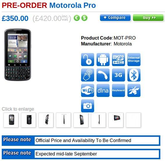 Motorola PRO is finally making its UK debut in September
