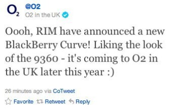 BlackBerry Curve 9360 is going to be available in the UK through O2 and Vodafone