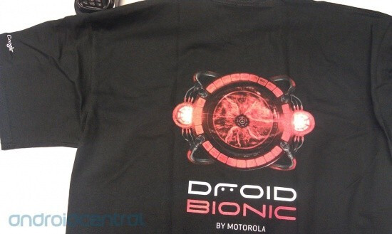 These Motorola DROID BIONIC shirts are the latest in smartphone fashion - Motorola DROID BIONIC shirts are here; video shows the DROID BIONIC in action