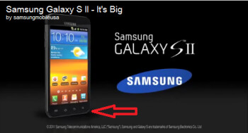 The Samsung Galaxy S II on left shows an Apple iPhone-style home button while the model at right doesn't