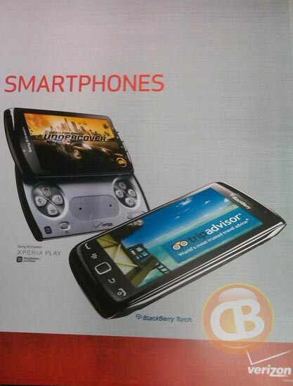 Leaked poster shows off a Verizon branded BlackBerry Torch 9850
