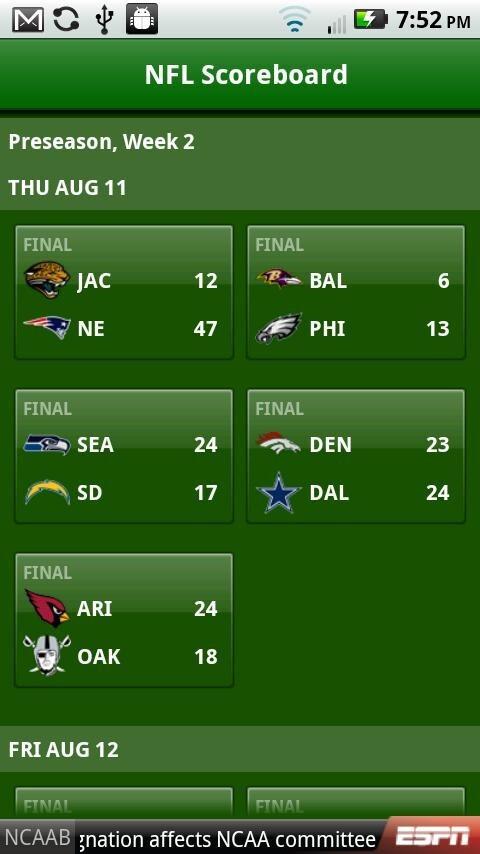 ESPN Fantasy Football finally hits the Android Market