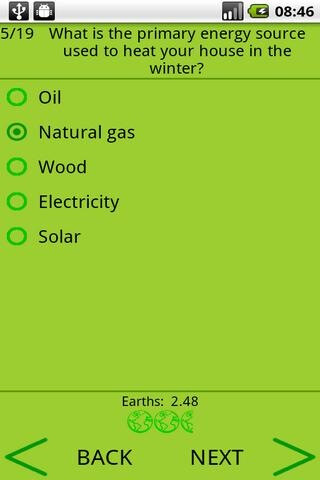 ecoFootprint - Green Android apps tailored with the environment in mind