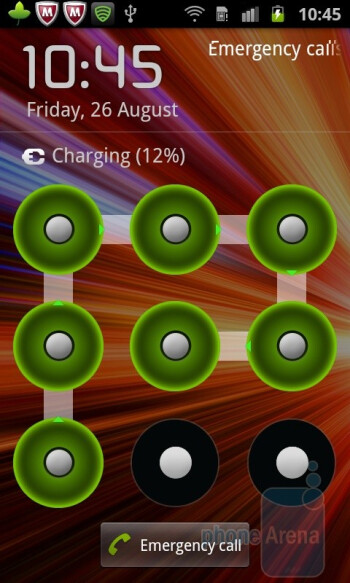 Pattern screen lock