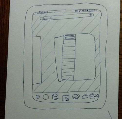 This drawing of an HP TouchPad is currently for sale on eBay - Humorous drawing of an HP TouchPad pops up for sale on eBay, bids skyrocket