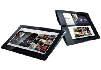 The Sony Tablet S (L) and Sony Tablet P (R)
