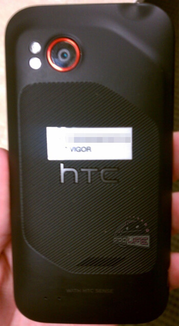 The front and back of the HTC Vigor
