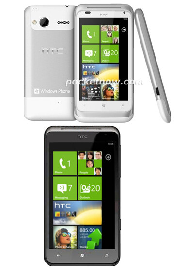 The HTC Radar (top) and the HTC Titan (bottom) - User Agent Profiles reveal new names for the HTC Omega and HTC Eternity
