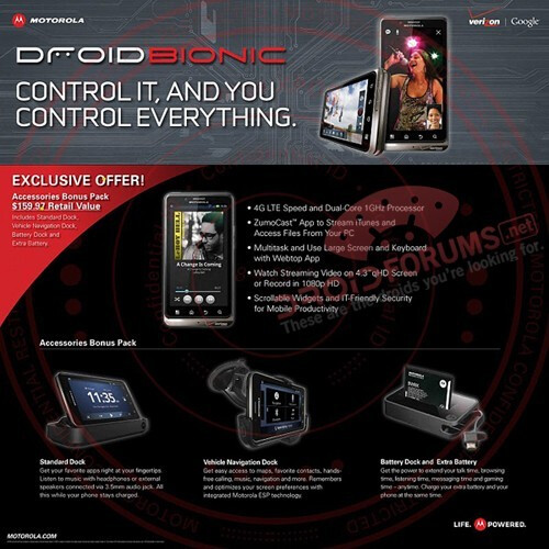 A leaked flyer reveals Costco's deal for the DROID BIONIC - Tweet confirms September 8th launch for the Motorola DROID BIONIC