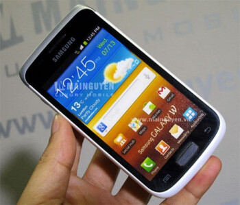 Images show a Samsung Galaxy W dressed in a white paint job