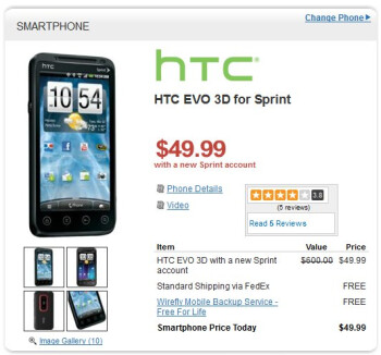 HTC EVO 3D is making the jump to 3D even easier at $49.99 on-contract