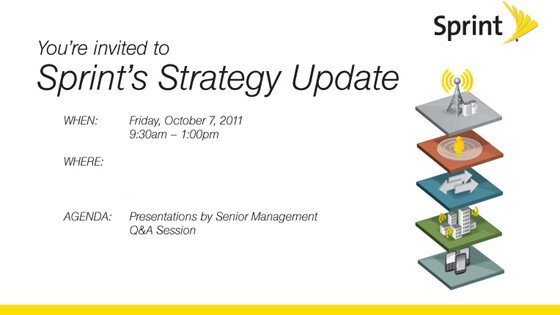 Sprint Strategy Update event coming October 7th: will it bring 4G LTE news, tiered data or an iPhone?